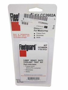 fleetguard coolant test strips