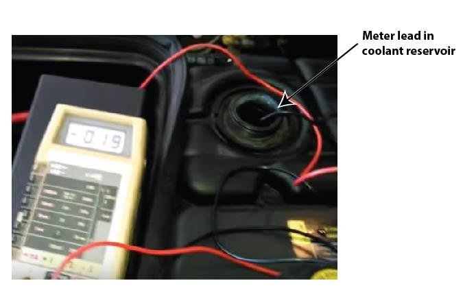 test antifreeze with multimeter
