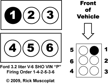2009 Acura on Ford 3 2 V 6 Firing Order And Diagram   Rick S Free Auto Repair Advice