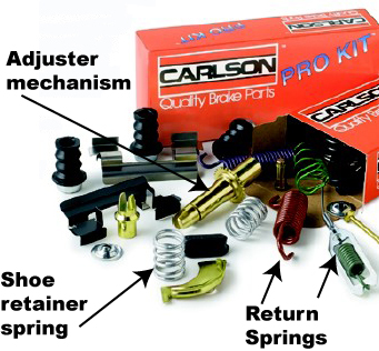 brake hardware, brake job, brake springs, brake adjuster, how much is brake job