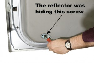 Don't forget to check under reflectors and along the latch side of the door panel.