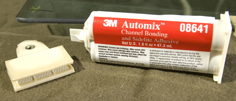 3M 08641 channel bonding adhesive, 08641, glass adhesive, auto glass adhesive, sash guide adhesive