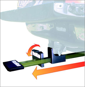 trailer hitch truck step