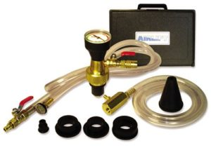 UView 550000 Airlift Cooling System Leak Checker and Airlock Purge Tool Kit to bleed cooling system and remove air pockets