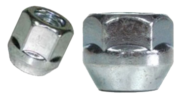 open end lug nut has no cover to protect the wheel stud threads or the internal threads on the lug nut