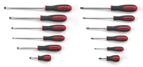 GearWrench 80051 12 Piece Combination Dual Material Screwdriver Set