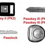 GM anti-theft keys