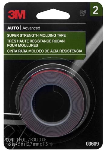 trim tape, reattach molding, fix molding