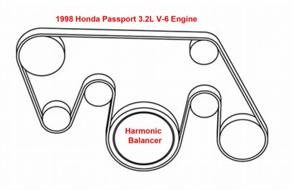 1998 dodge avenger drive belt diagram