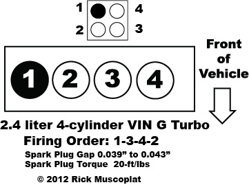2013 dodge avenger wiring diagram 2 4 liter 4 cyl chrysler firing order     ricks free auto repair  2 4 liter 4 cyl chrysler firing order