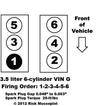 2010 Ford Taurus Firing Order Of A 3 5 Liter Ford V 6