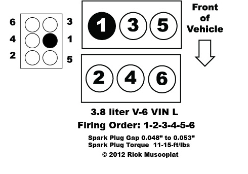 3 8 Liter V6 Chrysler Firing Order on 3 8l v6 engine diagram