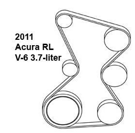 Acura RL, belt diagram, fan belt diagram, Acura belt diagram, serpentine belt diagram, free diagram