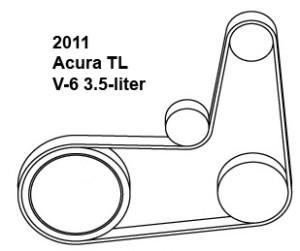 Acura TL, belt diagram, fan belt diagram, Acura belt diagram, serpentine belt diagram, free diagram