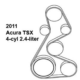Acura TSX, belt diagram, fan belt diagram, Acura belt diagram, serpentine belt diagram, free diagram