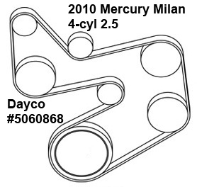 2010 Mercury Milan 4 Cyl 2 5 Liter Serpentine Belt Diagram