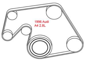 96 A4 2_8L serpentine belt diagram