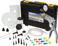 Mityvac MITMV8500 Silverline Elite Automotive Vacuum Pump Kit to bleed brakes, clutch and power steering systemseed air out of cooling system
