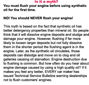 engine flush, transmission flush, synthetic oil