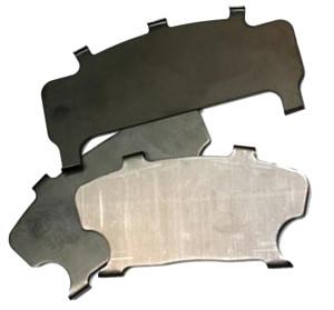 Brake pad noise reduction shim