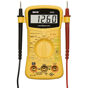 digital multimeter, volt meter, battery tester