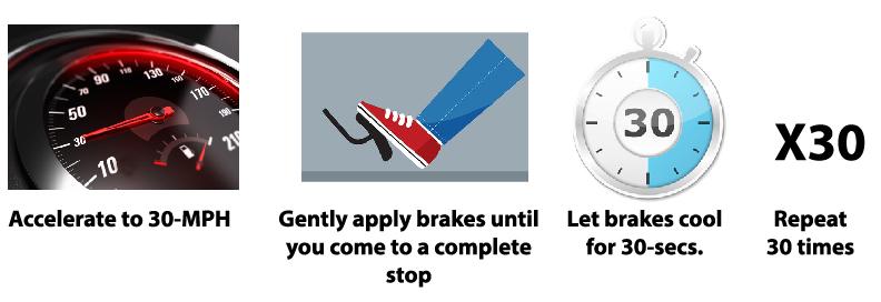 new brake pad break in procedure