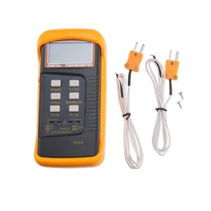 AGPtek Dual Two Channel Digital Thermometer 2 K-Type Thermocouple Sensor