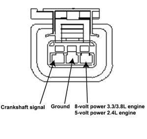 crankshaft position sensor, cranks but won't start caravan