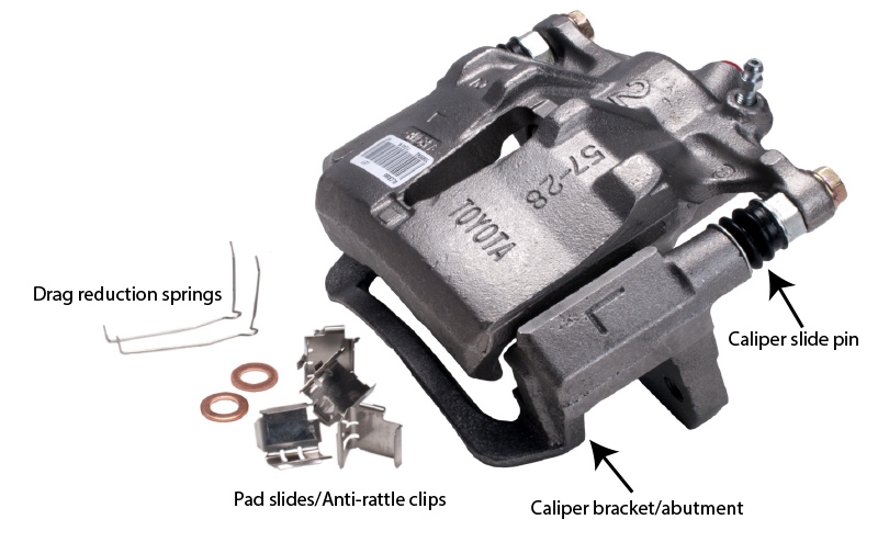 brake caliper, uneven brake pad wear
