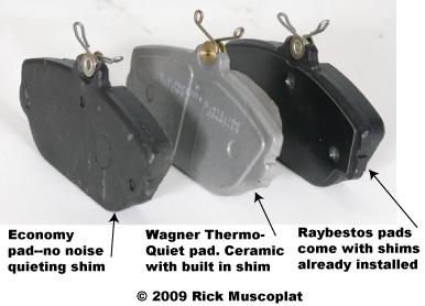 compare different brake pads