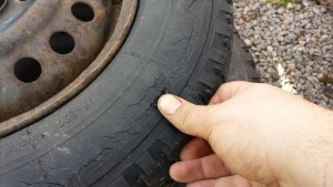 tire age cracks, tire age, tire condition, when to replace tires