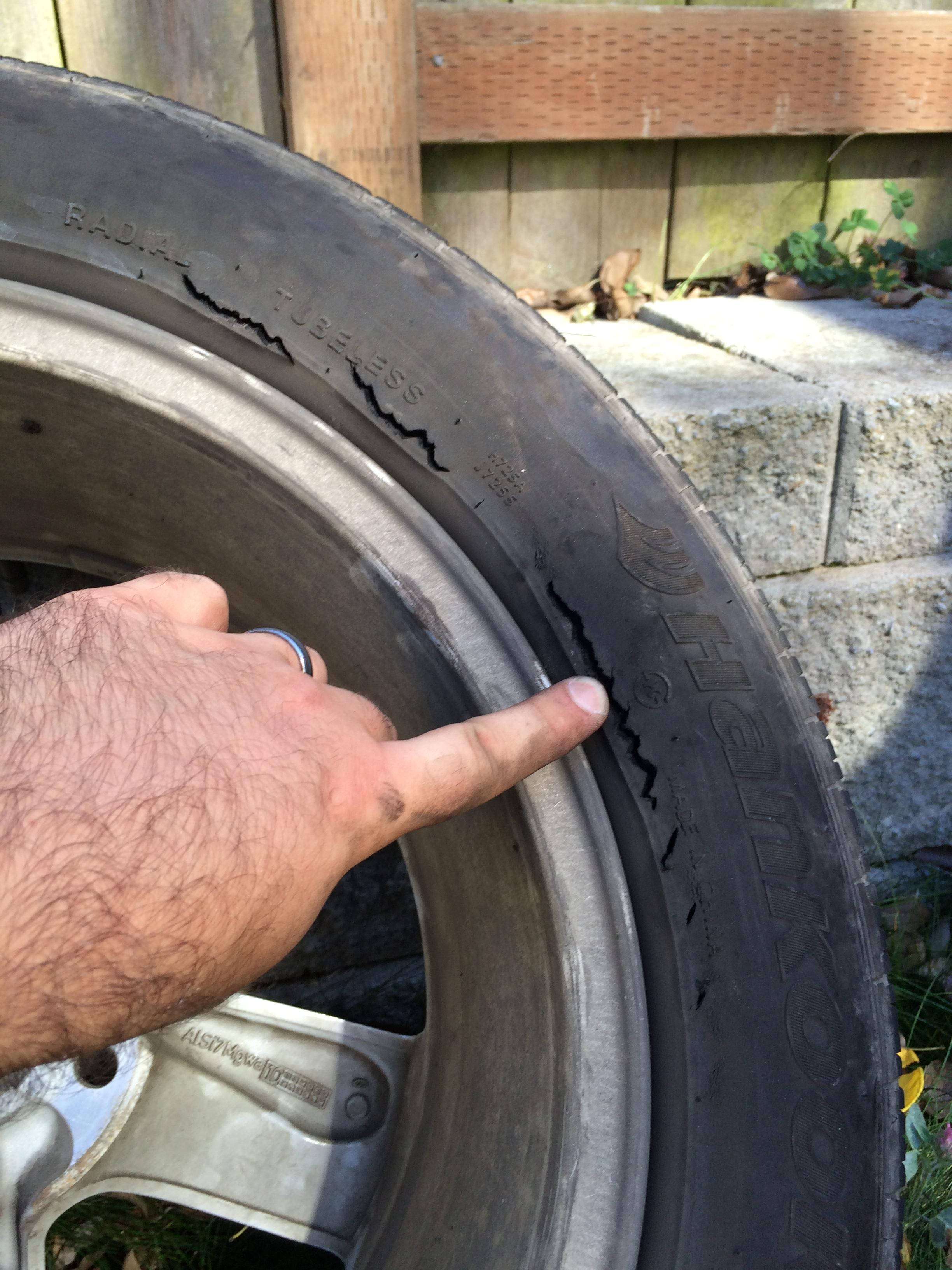 Tire Crack Filler : When to replace tires ricks free auto repair advice