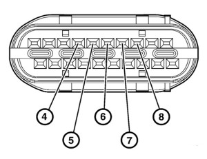 Ford transmission range selector connector wiring diagram for pinout