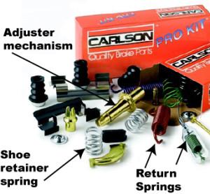 brake drum springs and hardware kit
