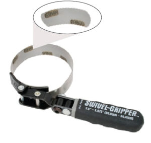 Lisle tools 57020 band style oil filter wrench with grit