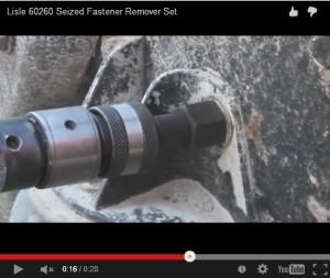remove rusted bolt