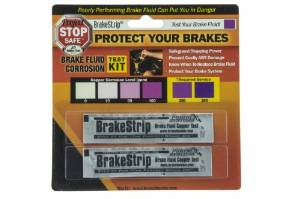 Two-pack of Phoenxi brand brake fluid test strips to test the condition of brake fluid in a car or truck