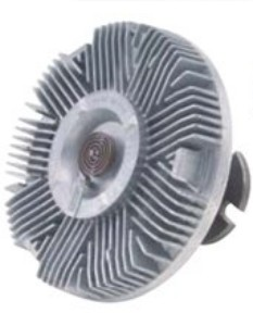 a viscous radiator fan clutch is used for mechanically driven radiator fans. The cluth allows the fan to free-wheel at highway speeds to reduce engine drag, but drives the radiator fan at slower speeds.