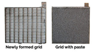 car battery grid with paste