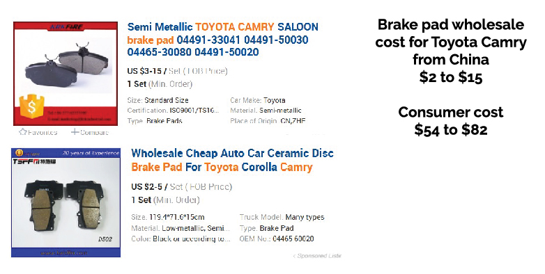 brake pads from china