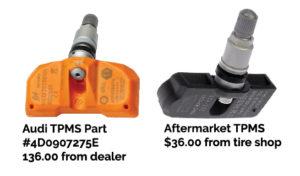OEM verus aftermarket TPMS sensor