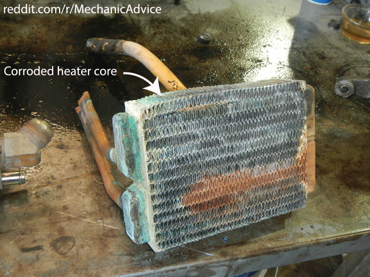 Corroded Heater Core