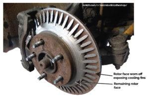 worn brake rotor