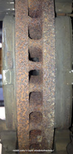 rusted rotor fins