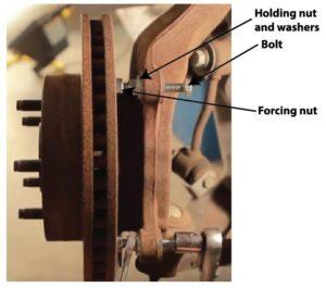 stuck brake rotor