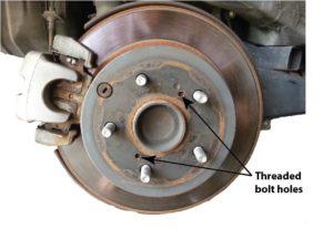 remove stuck brake rotor