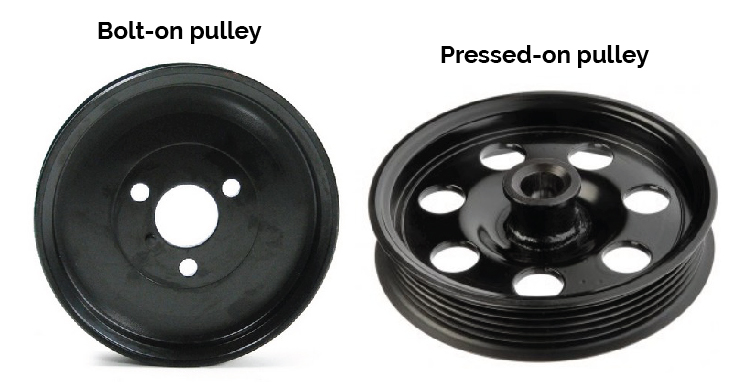 types of replacment power steering pulleys