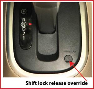 shift lock release