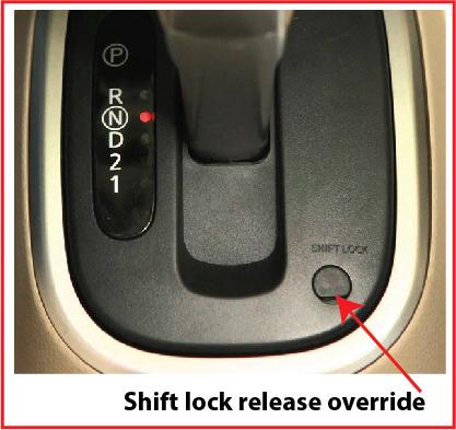 Shift lock release stuck — Ricks Free Auto Repair Advice