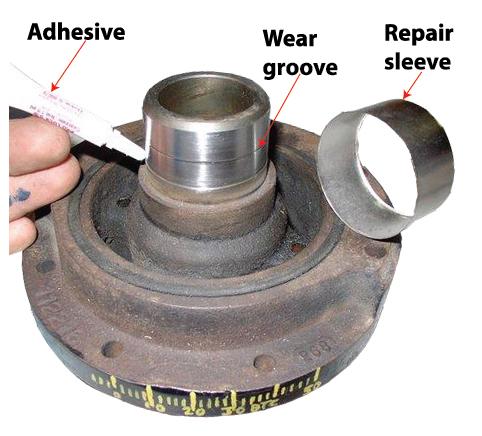 harmonic balancer repair sleeve